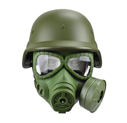 JFFCESTORE Airsoft Tactical Protective Mask M88 Helmet Full