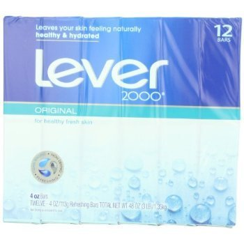Lever 2000 Moisturizing Bar, Perfectly Fresh Original , 4 Ounce Bars in 12 Count Packages (Pack of 2)