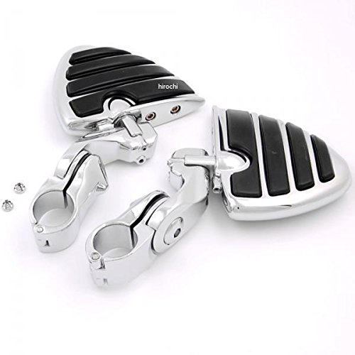 Baosity 1inch to 1-1//4 inch Motorcycle Engine Guard Highway Foot Pegs Footpeg Kit for Harley Models