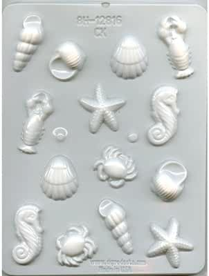 Sea Creature Hard Candy Mold by City Chocolates