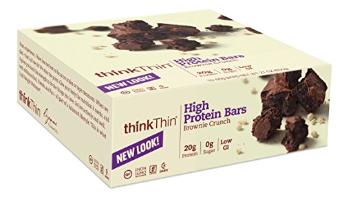 thinkThin Brownie Crunch, sans gluten, 21 onces (paquet de 10)
