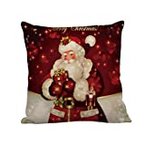 Mnyycxen Christams Square Throw Pillow Case Decorative Cushion Cover Pillowcase Cushion Case Sofa/Bed/Chair/Car Decoration (E)