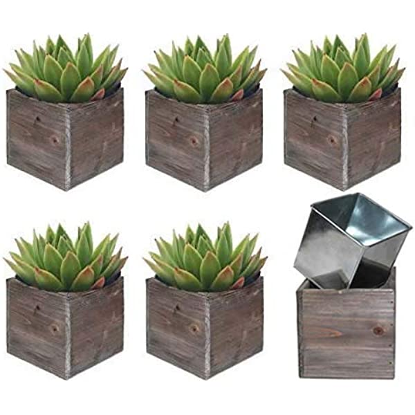 Wood Planter Box Rustic Whitewash 6 Inch Wedding Decor And Floral Arrangements Country House Charm Plastic Liners Wooden Square Natural Style Beige Set Of 2 Amazon Sg Home