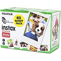 Fujifilm Instax Mini Mini Fujifilm Instax Mini Instant Film Sheets 60 Pack, White (87305)