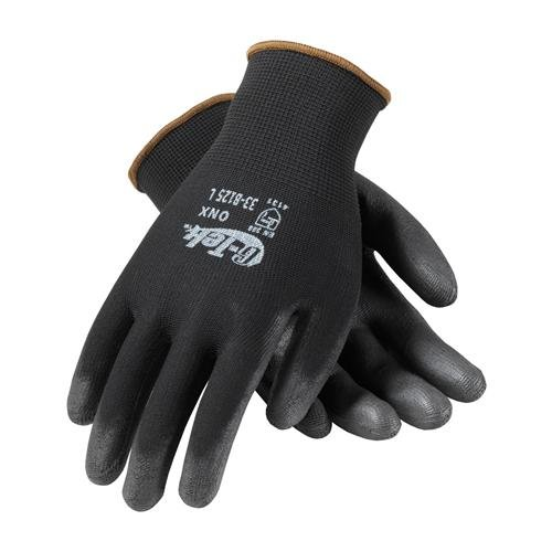 PIP 33-B125/M G-Tek GP Seamless Knit Nylon Glove with Smooth Grip, M Size, Polyurethane, Black (Pack of (Tek Grip)
