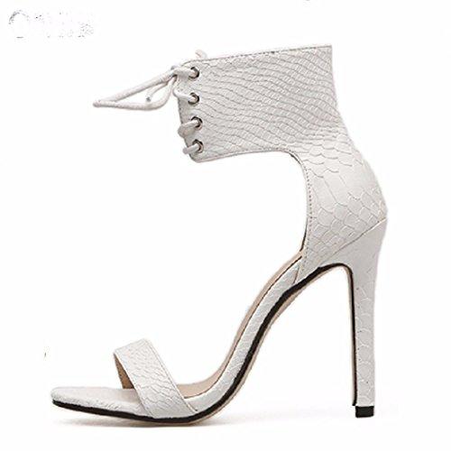 Sandalias de white Grandes Altos de Altos Moda Discotecas Sandalias Mujer Tacones Sandalias Tacones f8qwv7wx