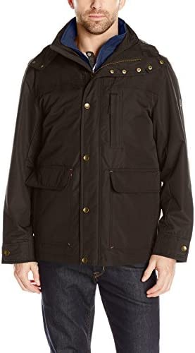 LONDON FOG Mens Cotton Poly Cropped 3 in 1 Parka