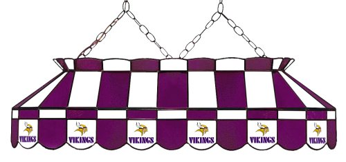 Imperial Officially Licensed NFL Merchandise: Tiffany-Style Stained Glass Billiard/Pool Table Light, Minnesota - Minnesota Pool Table
