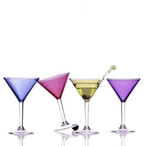 Set of 4 Colorful Acrylic Martini Glasses by Prodyne (Image #5)