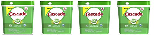 Cascade ActionPacs Dishwasher Detergent, Fresh Scent, 105 Count (Packaging may vary) (4) by Cascade