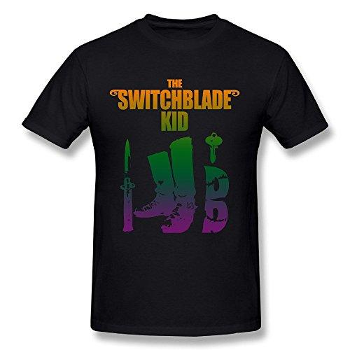 SWITCHBLADE Men's Black Short Sleeve (Large Switchblade)