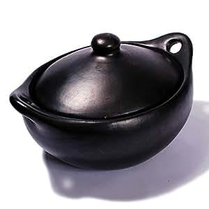 Black Clay, La Chamba Oval Casserole - Medium - 4 Quarts