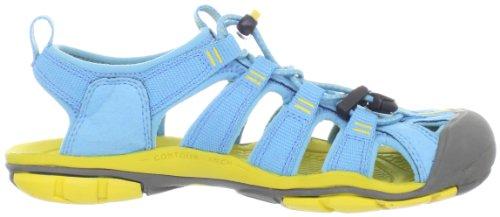 Keen Clearwater CNX, Sandalias de Senderismo - Sandalias de material sintético mujer Azul (Norse Blue/Super Lemon)