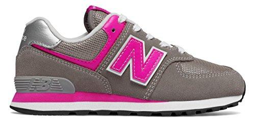 ファブリック公式荒涼とした(ニューバランス) New Balance 靴?シューズ レディースランニング 574 Core Grey with Pink グレー ピンク US 6 (23cm)