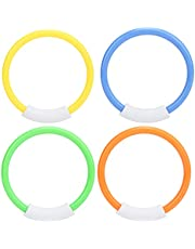 YAZR Diving Ring Underwater Swimming Diving Buoys Children's Water Toys Colorful Diving Rings Four Pack