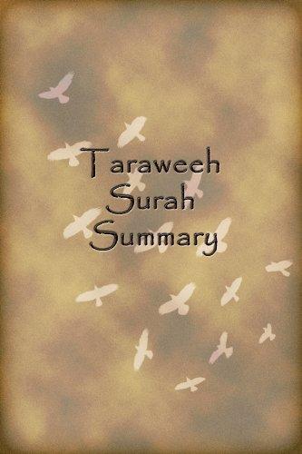 Taraweeh Recitation Summary - Kindle edition by Mufti Afzal