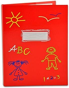 DIN A4 mit 20 Klarsichthüllen Kinder Zeugnismappe