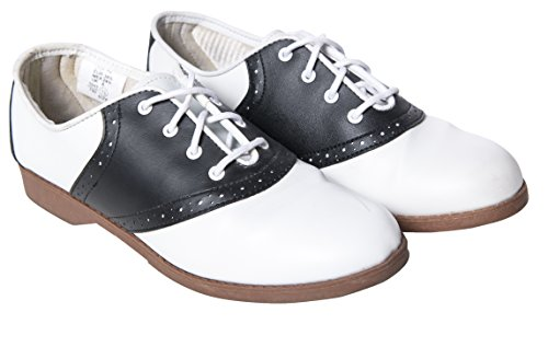 Hip Hop 50s Shop Womens Saddle Oxford Shoes 8.5 (Saddle Womens 1950s Shoes)