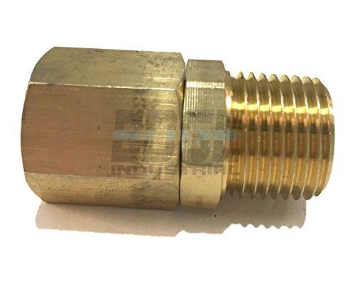 Edge Industrial Brass Male Swivel Adapter 1/2