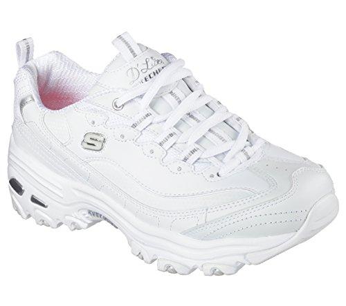 Memory Skechers D'Lites Fitness Trainers 42 Scarpe EUR Foam Numero di Fresh Start Women's White FRwFYU