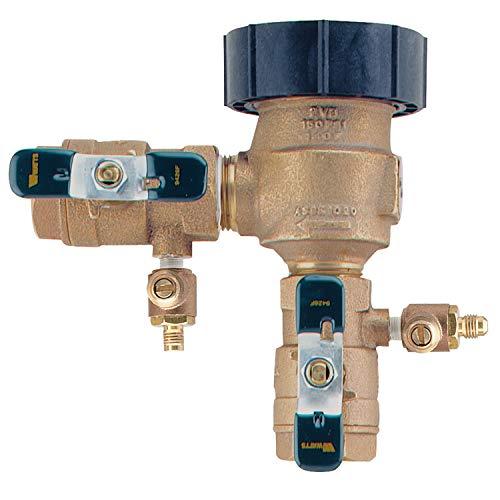 1 in Bronze Anti-Siphon Pressure Vacuum Breaker, Quarter Turn Shutoff, Tee Handles