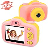Joytrip Kids Video Camera for Girls Gifts HD 2.3 Inches Screen 8.0MP Kids Digital Cameras Shockproof Children Selfie Toy Camera Anti-Fall Mini Child Camcorder for Age 3-14 with Soft Material (Pink)