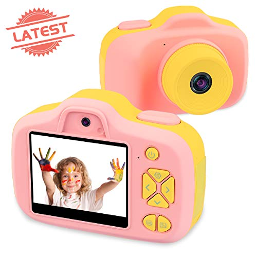 Joytrip Kids Video Camera for Girls Gifts HD 2.3 Inches Screen 8.0MP Kids Digital Cameras Shockproof Children Selfie Toy Camera Anti-Fall Mini Child Camcorder for Age 3-14 with Soft Material (Pink) ()