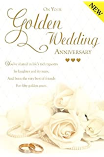 Auntie Uncle Golden Wedding Anniversary Card Amazoncouk Office