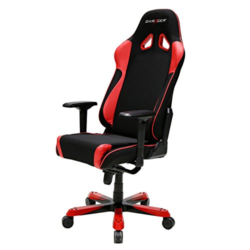 41mS1SrV1gL - DXRacer-King-Series-OHKS11NR-Racing-ERGO-Seat-Office-Chair-Gaming-Ergonomic-with-Includes-Head-and-Lumbar-Support-Pillows-BlackRed