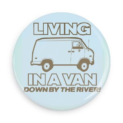 Funny Magnets; Popular Movies: Chris Farley Living In A Van Down By The River 3.0 Inch Refrigerator Magnet