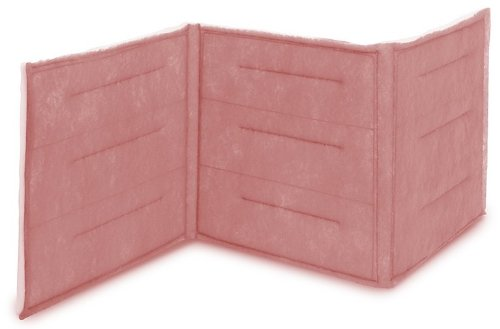 "Filtration Group 10942 3-Ply Ring Link Air Filter, Synthetic Polyester Media, Pink/White, 6 MERV, 24 Panels, 16"" Height x 576"" Width x 1"" Depth (Case of 1)"