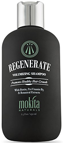 Biotin Hair Growth Volumizing Thickening Shampoo, Hair Loss Thinning and Fine Hair, Regrowth Thickening Products for Men Women, Sulfate Free and Vegan Friendly, Mokita Naturals 8.5 Ounces