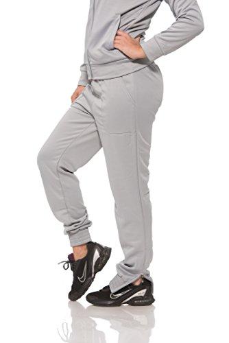 (13678) S2 Sportswear Womens Slim Fit Fleece Jogger with Side Ankle Zipper in Grey Size: M