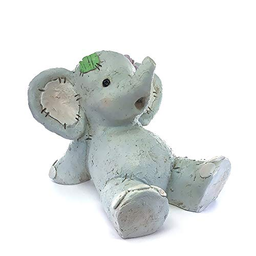 Small Elephant Figurine - IFiDEA Animal Doll Garden Statue 6