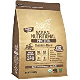 Organic Plant Based Vegan Protein Powder, Allergens Free, 9 Different Vegan Organic Protein for Muscle Growth, Low Carb & High Protein, Gluten Free, Chocolate Flavor, 2lb. - Amazing Garden Foods