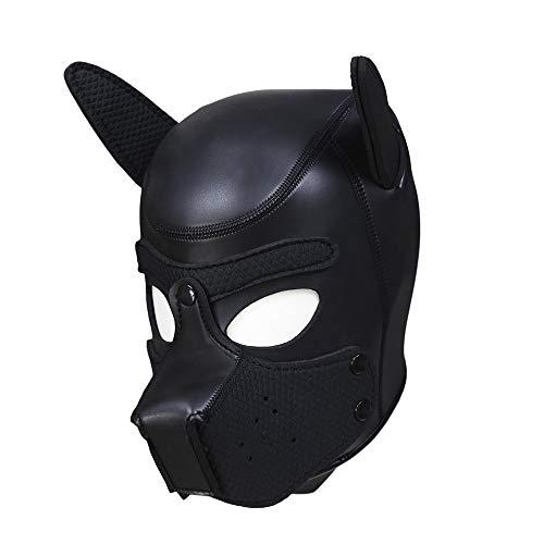 Full Face Leather - Pavian Neoprene Full Face Mask Dog Puppy Hood Custom Animal Head Mask Novelty Costume Head Masks