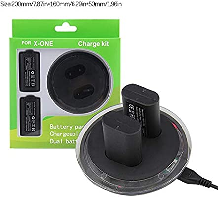 fengwen66 For Xbox One Dual Charging Dock Station Controller Charger and 2 Extra Battery Black: Amazon.es: Hogar