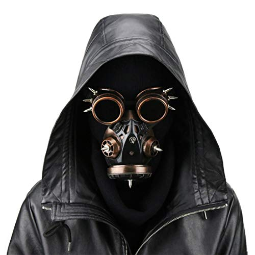 hazard Steampunk Gas Mask Goggles Spikes Skeleton Warrior Death Mask Masquerade Cosplay Halloween Costume Props (Color : Style2) ()