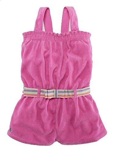 Ralph Lauren Baby Girl Terry Cotton Belted Romper, 18 MOS, Pink