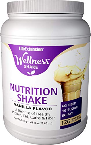 Life Extension Wellness Vanilla Nutrition Shake, 656 -