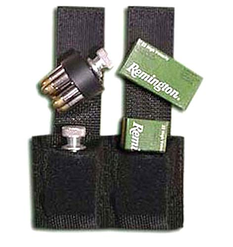 Shark GunLeather Speed Loader Pouch - Holds 2 Speedloaders - Fits 22 Mag, 38, 357, 44 Mag