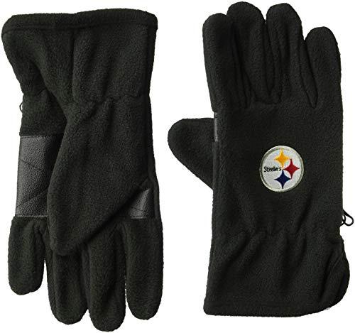 Pittsburgh Steelers Nfl Fleece - OTS NFL Pittsburgh Steelers Male Fleece Gloves, Black, Men's