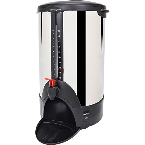 "Coffee Pro CP50 Urn/Coffeemaker, 50-Cups, 12""x16-1/2""x22"", S"