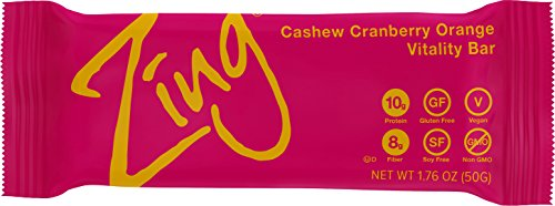 Zing Nutrition Bar, Cashew Cranberry Orange, (Pack of 12), Non-GMO Snack Bar for Optimum Energy, Gluten & Soy Free, Plant-Based Protein by Zing Bars (Image #6)