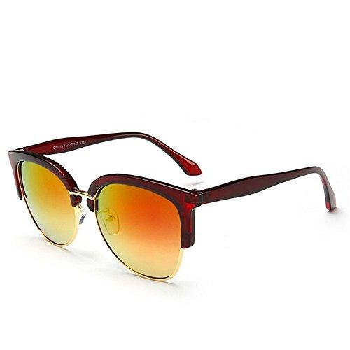 KaiSasi 2016 New Retro Unisex Sunglasses Eyebrow Color Dazzling Metal Half Frame - 2016 Oakleys Best Fake