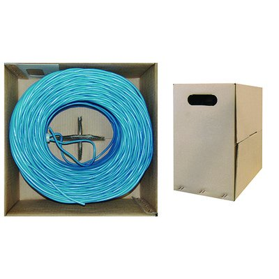 500ft, Bulk Dual Cat5e and Dual RG6 Quad Shield, Blue Outer Jacket ( 2 PACK ) BY NETCNA