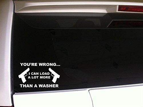 "Load More Than a Washer 6"" Vinyl Sticker DecalG16 Car Wall Laptop Pro Gun Control 2a Women"