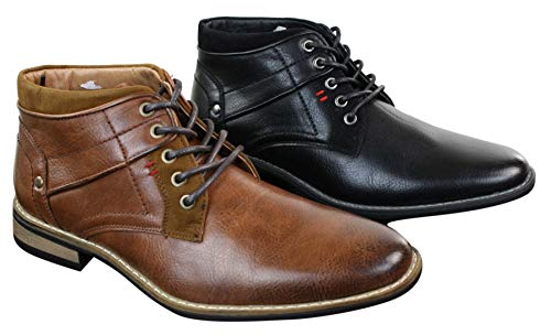 Homme Cuir Montantes Avec Noir Et Militaire Clair En Marron Style Simili Lacets Elong Décontracté Chaussures qUBIBE