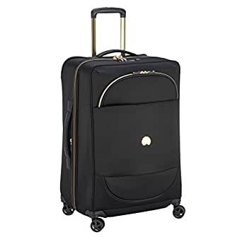 Delsey Paris Montrouge 68 cm 4 Wheels Expandable Trolley Case Suitcase (Softside), Black (00201881100)