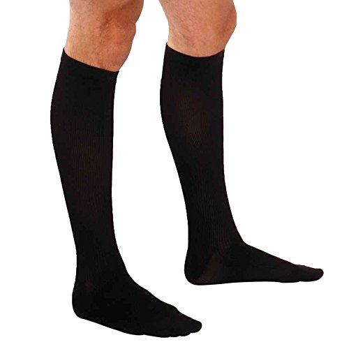 Therafirm Mens Dress Sock - Therafirm  Men's Trouser Socks - 15-20mmHg Mild Compression Dress Socks (Black, XL)